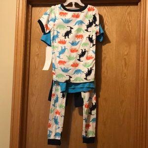 NWT Carter's 4 pc cotton Dino pajama set boy's